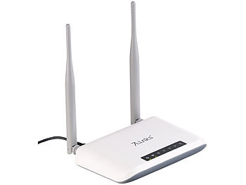 7links 300-Mbit-WLAN-Router mit 4 Ethernet-Ports und 2 Antennen 7links WLAN-Router
