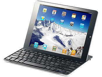 GeneralKeys Alu-Schutzcover mit Bluetooth-Tastatur für iPad Air GeneralKeys Bluetooth-Tastaturen fürs iPad