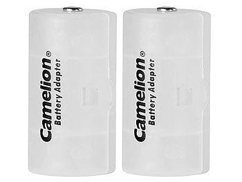 Akku- & Batterie-Konverter AA Mignon zu Mono Typ D, 2er-Set | Batterieadapter
