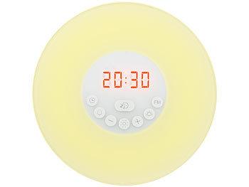 auvisio Wake-up-LED-Radiowecker mit Bluetooth & Sonnenaufgangs-Simulation auvisio Radio-Lichtwecker Bluetooth