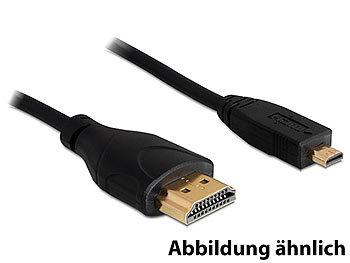 Adapterkabel mini-HDMI-Stecker auf HDMI-Stecker, 1 m