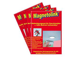 magnetolink magnetbefestigung f r rauchwarnmelder 4er set. Black Bedroom Furniture Sets. Home Design Ideas