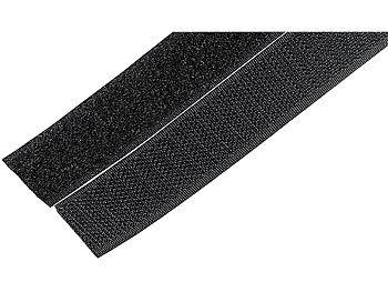 10 Stück Schwarz Klettband Klettverschluss Kabel klettband selbstklebend