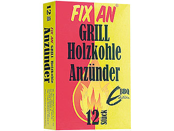 grill holzkohle anz nder fix an 12 st ck f r grill ofen kamin. Black Bedroom Furniture Sets. Home Design Ideas