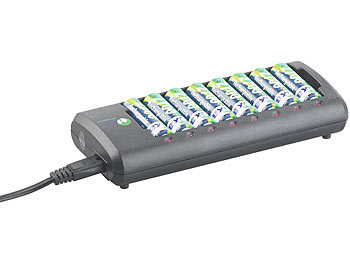 tka Ladegerät AAA: Smart Ladegerät für 8 NiMH oder NiCd
