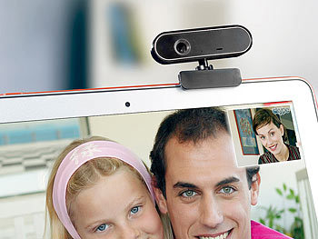 Somikon Full HD-Webcam WEC-360.HD mit Autofokus und 1080p/15fps Somikon Full-HD Webcam