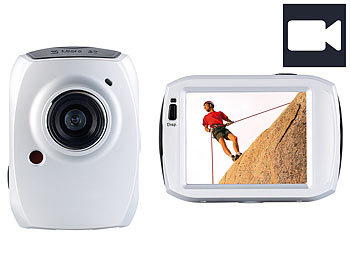 1080p Full HD Action-Cam: Somikon 3in1-Action-Cam DV-1200 mit Full HD & 6,1-cm-Touchscreen