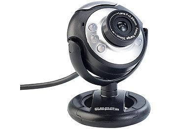 Hochauflösende USB-Webcam mit 6 LEDs, HD-Video (1280 x 1024 Pixel) / Webcam