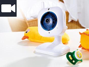IP-Netzwerk-Kamera mit Bewegungserkennung, QR-Code IR, 2-Wege-Audio / Babyphone