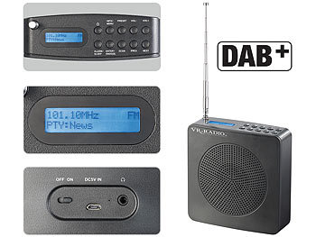 vr radio digitales dab fm radio dor 200 fm mit akku. Black Bedroom Furniture Sets. Home Design Ideas