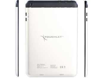 "TOUCHLET 7,85""-Tablet-PC X8quad.pro mit 4-Kern-CPU, GPS, UMTS, HD, BT4 TOUCHLET Android Tablet PCs (MEDIUM ab 7,8"")"