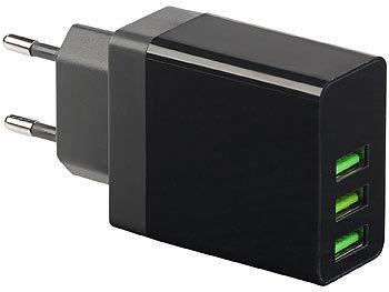 revolt 3 fach USB Ladegerät: Intelligentes 3 Port USB
