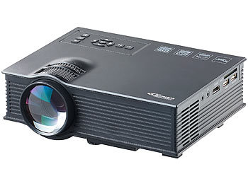 SceneLights SVGA-LCD-LED-Beamer LB-8300.mp mit Mediaplayer, 800 x 480 Pixel SceneLights