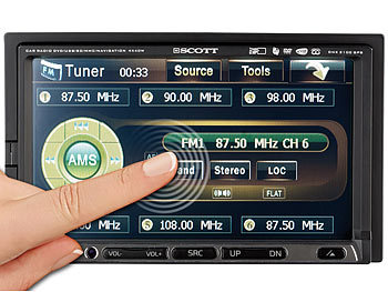 "SCOTT Autoradio ""DNX2100"" mit 7""-Touchscreen, 3D-Navigation, DVD"