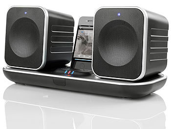 muvid docking stereoanlage funk lautsprecher m ipod iphone dock 25 w versandr ckl ufer. Black Bedroom Furniture Sets. Home Design Ideas