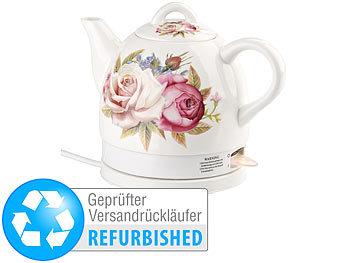 1.500 W 2 l Keramik-Wasserkocher WSK-280.rtr mit blauem Blumen-Motiv