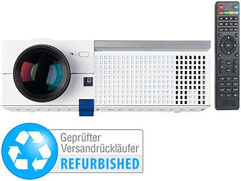 SceneLights LED-LCD-Beamer, 1280 x 800 Pixel (HD) (Versandrückläufer) SceneLights LED-Heim-Beamer