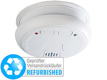 Drahtlos vernetzbarer Funk-Rauchwarnmelder RWM-450.f VisorTech Rauchmelder vernetzbar 2er-Set Rauchmelder Funk vernetzt