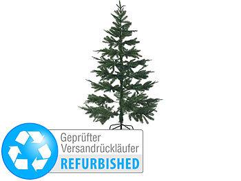 Weihnachtsbaum Christbaum Tannenbaum mit Zapfen 180cm Glasfaser LED Beleuchtung