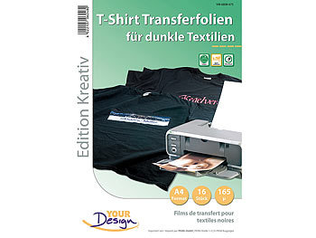 Your Design 16 T-Shirt Transferfolien für bunte Textilien A4 Inkjet Your Design T-Shirt-Druck-Folien