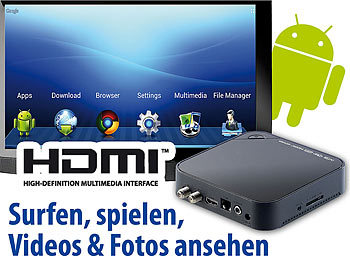 "Meteorit Android-Internet-TV-Box mit HD-SAT-Receiver ""MMB-525.SAT"" Meteorit"