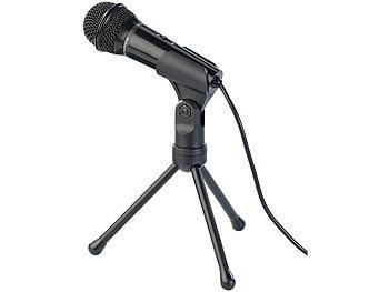Kondensator-Mikrofon mit Stativ für PC und Notebook, 3,5-mm-Klinke / Mikrofon