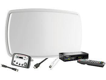 satellitenanlage sat tv starterset f r einen benutzer single lnb sat anlage komplett. Black Bedroom Furniture Sets. Home Design Ideas