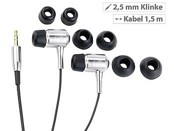 auvisio in ear kopfh rer premium stereo ohrh rer bass. Black Bedroom Furniture Sets. Home Design Ideas