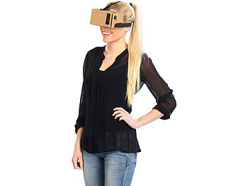 "PEARL Virtual-Reality-Brille VRB50.3D, Bausatz für Smartphones (4""-5"") PEARL Virtual Reality Brillen für Smartphones"