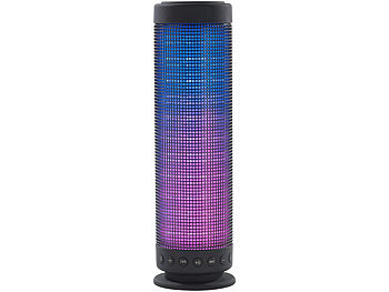 auvisio Bluetooth-Lautsprecher & MP3-Player LSS-310 mit 80 RGB LEDs auvisio LED-Bluetooth-Lautsprecher