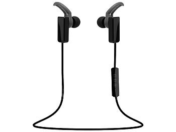 in Ear Sport Kopfhörer: auvisio In-Ear-Sport-Headset, mit Bluetooth 4.1