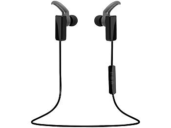 auvisio Bluetooth-4.1-Sport-Headset, In-Ear auvisio Bluetooth-Stereo-Ohrhörer-Headsets