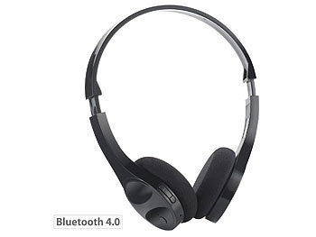 auvisio Bluetooth-Stereo-Headset BH-30.s, Multipoint, schwarz auvisio Bluetooth Stereo Kopfhörer Headsets