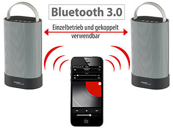auvisio Bluetooth-Stereo-Lautsprecher Duo MSS-200.btd auvisio Bluetooth Lautsprecher für Smartphone & Tablet PCs