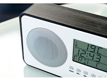 auvisio design fm radiowecker mit digitaler frequenzwahl netzteil anthrazit. Black Bedroom Furniture Sets. Home Design Ideas