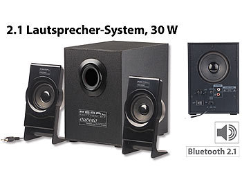 auvisio computer boxen klangstarkes lautsprecher system. Black Bedroom Furniture Sets. Home Design Ideas