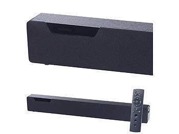 auvisio Stereo-Soundbar mit Bluetooth 4.0, 2 integr. Subwoofern, DSP, 120 Watt auvisio 2.1-Soundbars mit Bluetooth