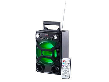 auvisio Mobile Akku-Partyanlage, Bluetooth, Karaoke-Funktion, USB, SD, 30 Watt auvisio Mobile Party-Audioanlagen mit Karaoke-Funktionen