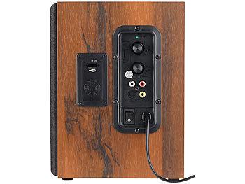 auvisio aktiv boxen aktives stereo regallautsprecher set. Black Bedroom Furniture Sets. Home Design Ideas
