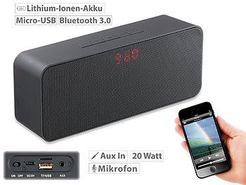 auvisio bt lautsprecher stereo lautsprecher bluetooth freisprecher mp3 fm radio 20 watt. Black Bedroom Furniture Sets. Home Design Ideas