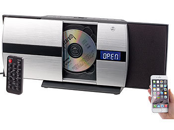 auvisio CD Player: Vertikale Stereoanlage mit Bluetooth, CD, MP3 ...