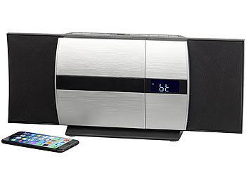 auvisio musikanlage vertikale stereoanlage mit bluetooth. Black Bedroom Furniture Sets. Home Design Ideas