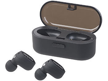 auvisio True Wireless In-Ear-Stereo-Headset, Bluetooth 4.2 (20 m), Lade-Etui auvisio Kabelloses In-Ear-Stereo-Headsets mit Bluetooth und Lade-Etui