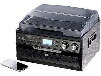 auvisio kompakt stereoanlage 5in1 plattenspieler mit bluetooth digitalisier funktion software. Black Bedroom Furniture Sets. Home Design Ideas