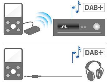 auvisio kopfh rer radio 2in1 digital dab fm taschenradio. Black Bedroom Furniture Sets. Home Design Ideas