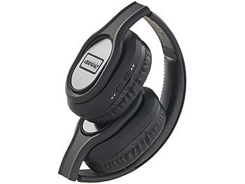 auvisio Faltbares Over-Ear-Headset, Bluetooth, Active Noise Cancelling 20 dB auvisio Over-Ear-Headsets mit Bluetooth und Noise Cancelling
