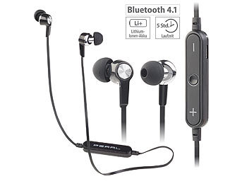 PEARL In-Ear-Headset IHS-75.bt mit Bluetooth 4.1 & 3-Tasten-Bedienteil PEARL In-Ear-Stereo-Headsets mit Bluetooth