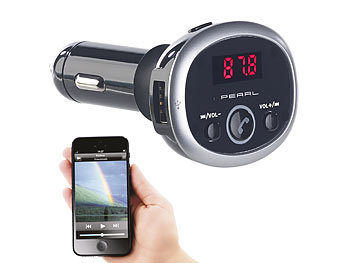 MP3-Player /& App Bluetooth: Kfz-Lade-Verteiler mit FM-Transmitter auvisio FM Transmitter Freisprecher Kfz USB Ladeger/ät
