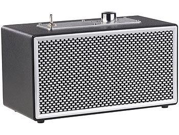 Mobiler Retro-Lautsprecher mit Bluetooth 4.1 und AUX-Eingang, 20 Watt