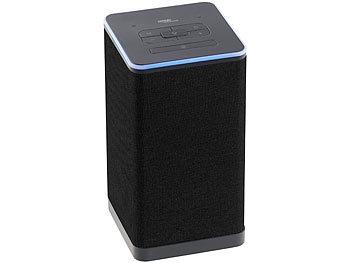 WLAN-Multiroom-Stereo-Lautsprecher QAS-400 mit Amazon Alexa und Akku, 20 Watt